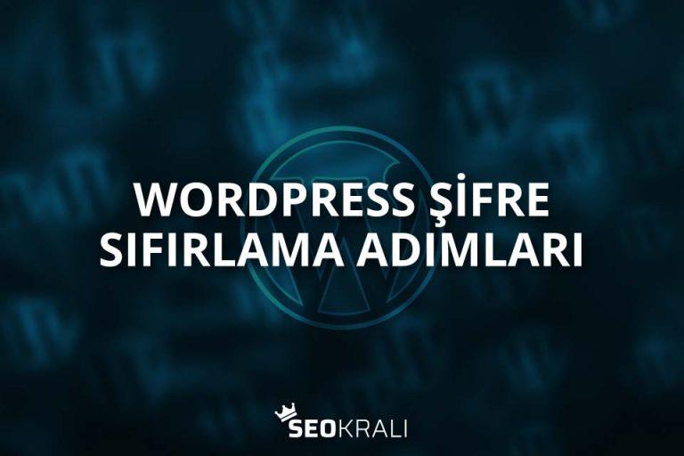 WordPress Şifre Sıfırlama Adımları